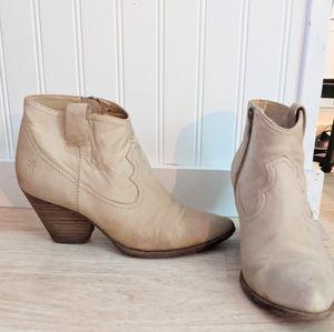 FRYE Reina Booties 6.5 Ankle Boots Western Heels